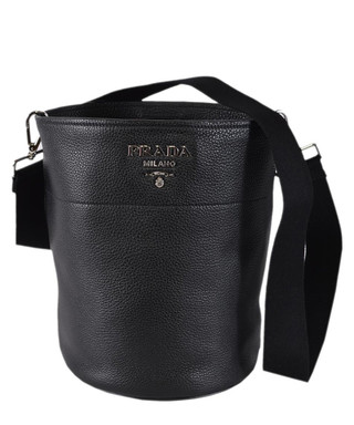 7898f7fb9593 prada. Vitello Daino leather bucket bag