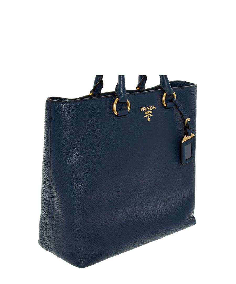 a01b6cf356186c Discount Vitello Phenix navy leather tote bag | SECRETSALES