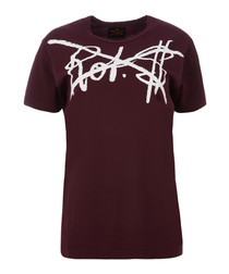 Rot$ bordeaux organic cotton T-shirt