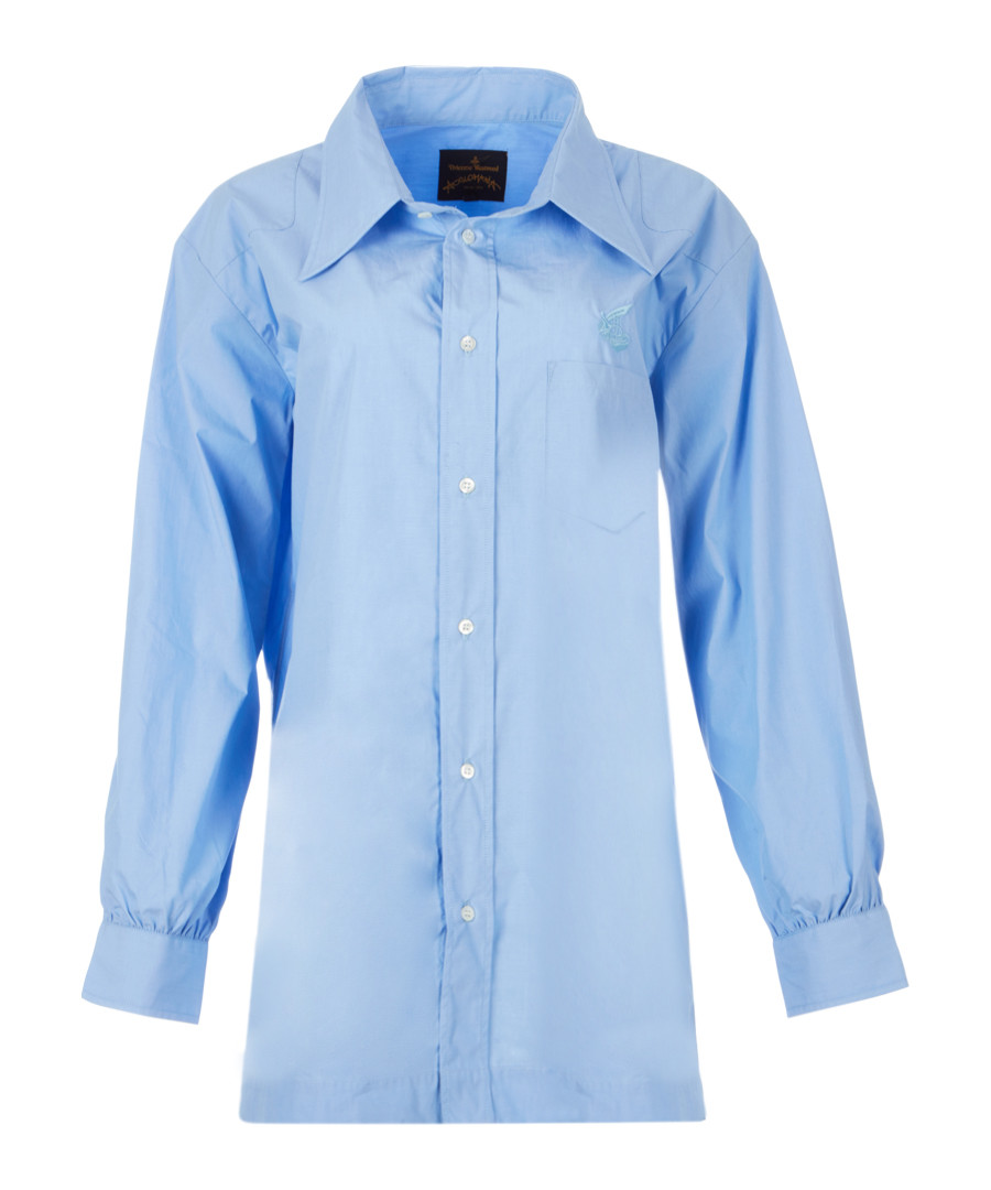 Blue pure cotton utility shirt Sale - Vivienne Westwood