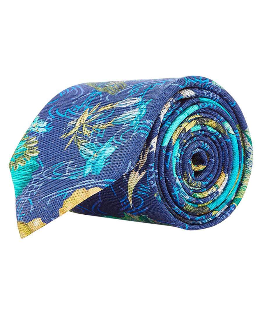 Pond blue pure silk tie Sale - VIVIENNE WESTWOOD
