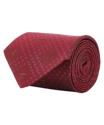 Wine & pink pure silk squares tie