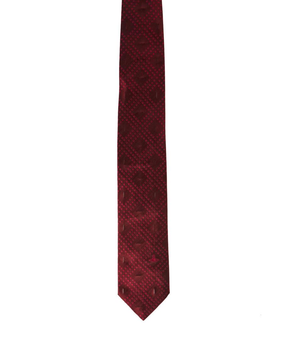 Bordeaux pure silk squares tie  Sale - Vivienne Westwood