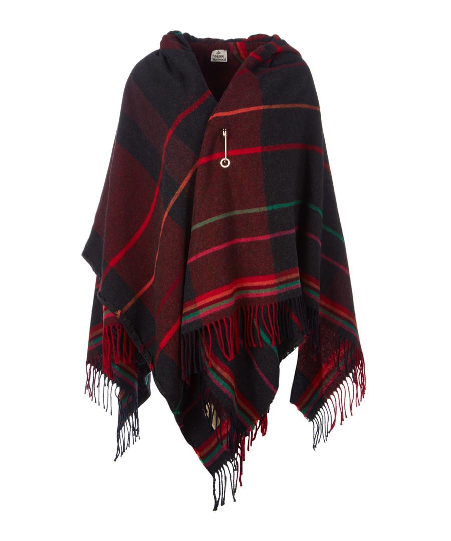 Red check wool blend poncho Sale - vivienne westwood