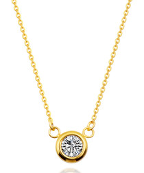 18k gold-plated solitaire necklace