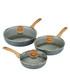 3pc aluminium wood handle pan & lid set Sale - bisetti Sale
