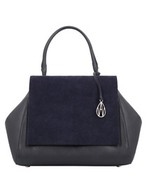 The Gant midnight suede front shopper
