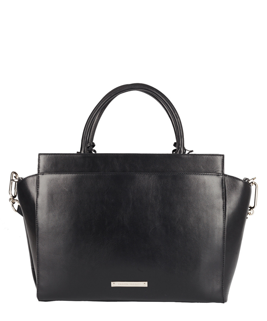 The Portman black leather shopper Sale - Amanda Wakeley