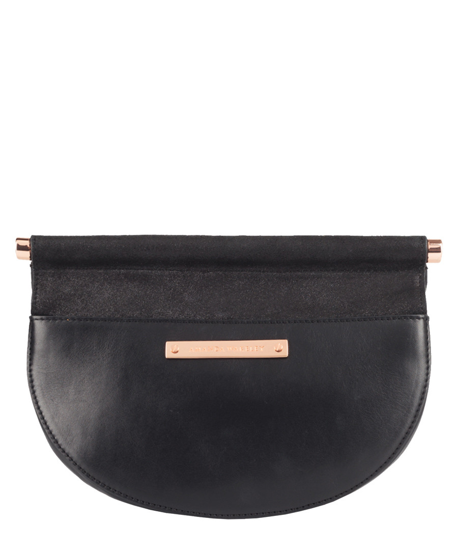 The Presley black leather clutch Sale - Amanda Wakeley