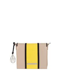 The Stripe Costello yellow crossbody