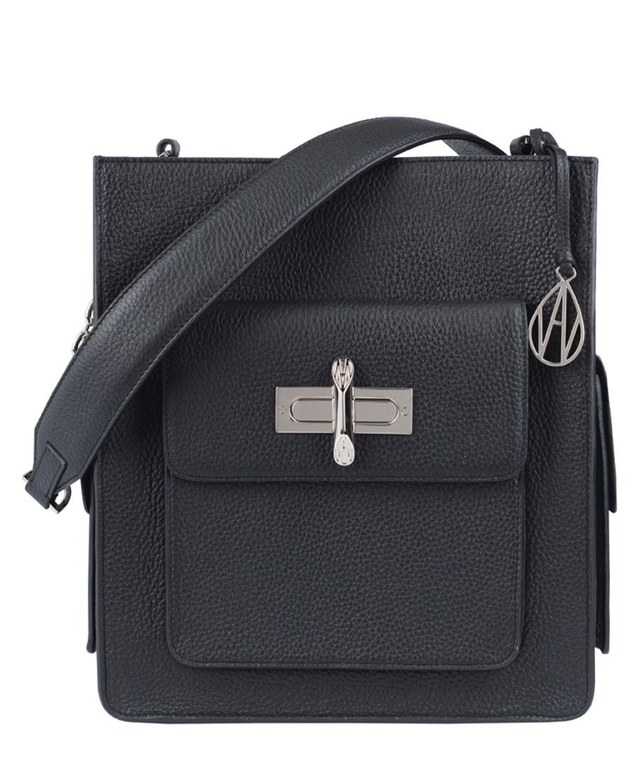 The James black leather shoulder bag Sale - Amanda Wakeley