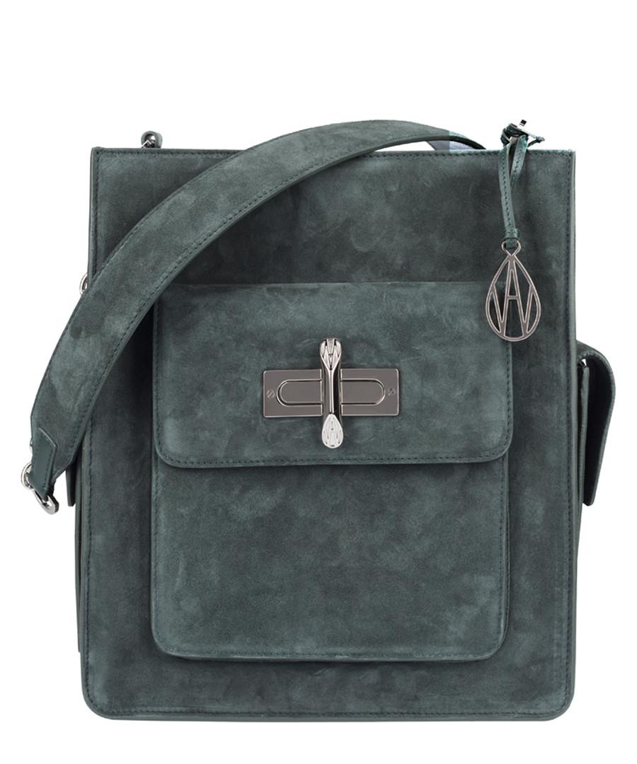 The James raven suede shoulder bag Sale - amanda wakeley