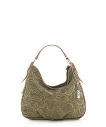 Roxi sage leather shoulder bag