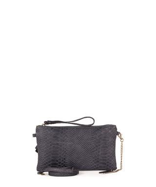 5fadfe16bd2c anna morellini. Marla dark blue leather clutch bag