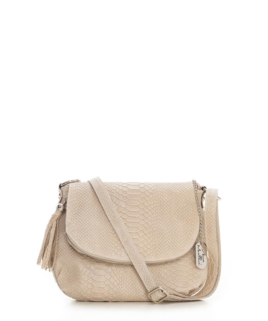 Elena cappuccino leather crossbody bag Sale - anna morellini