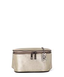 Emma gold-tone leather crossbody bag