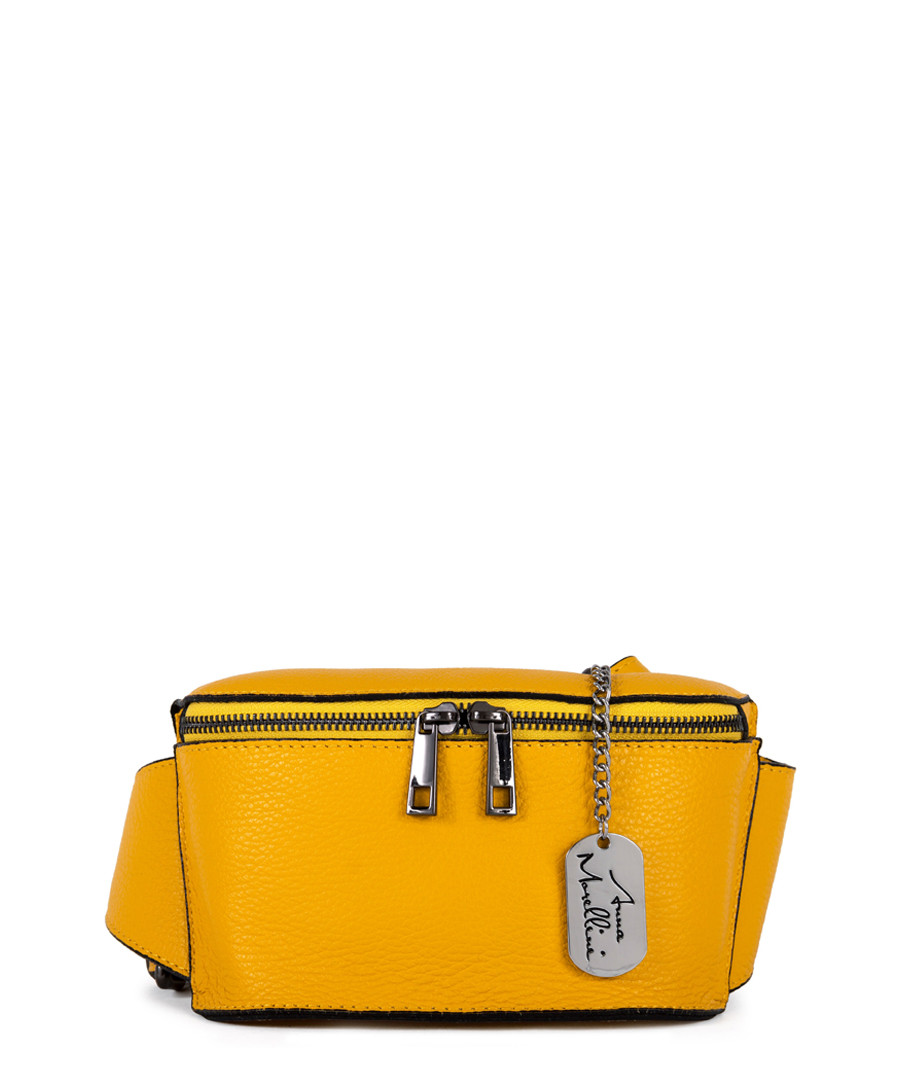 Emma amber leather crossbody bag Sale - anna morellini