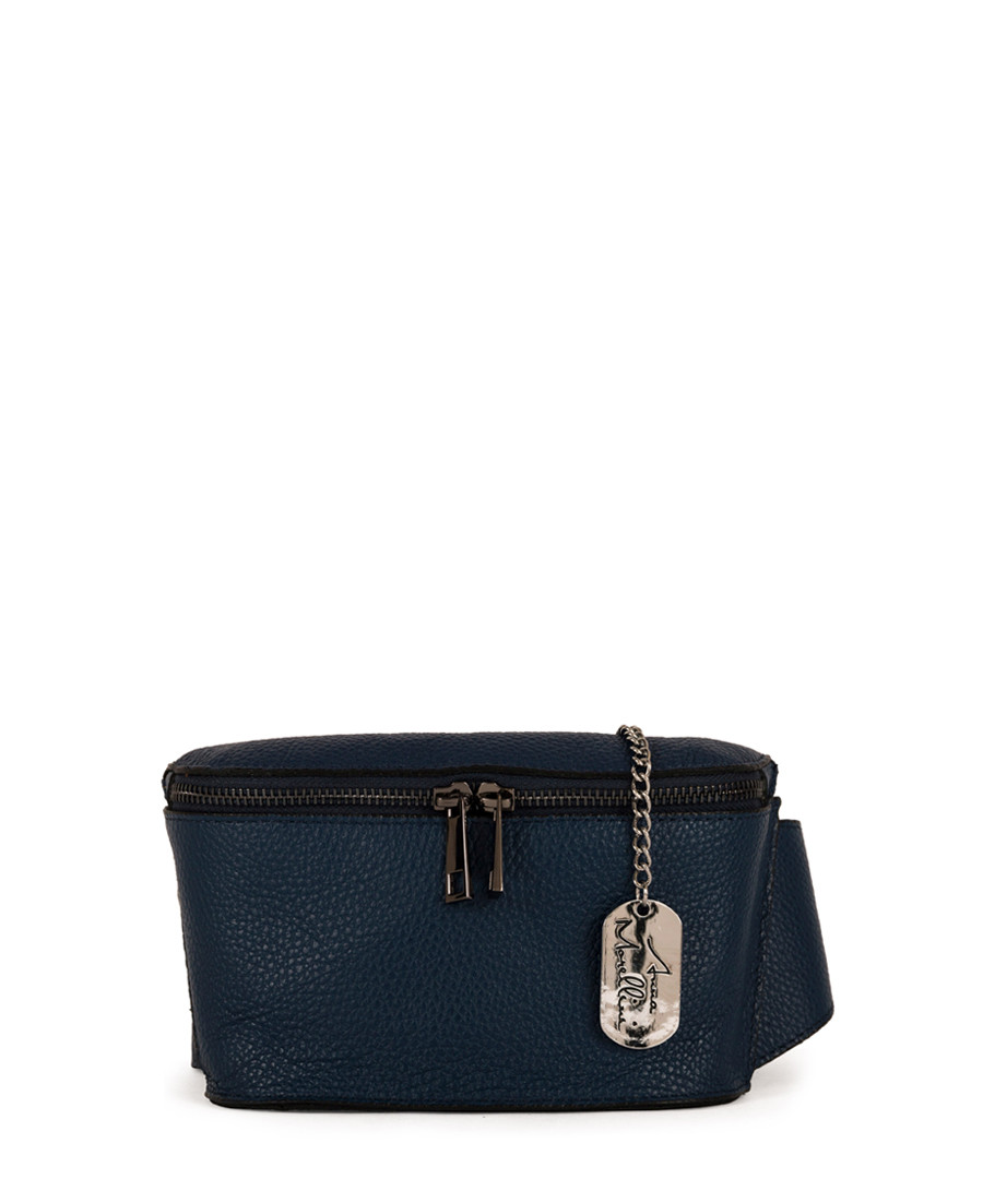 Emma navy leather crossbody bag Sale - anna morellini