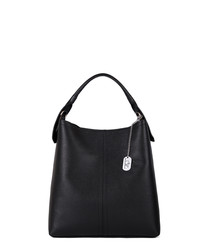 Callida II black leather shoulder bag