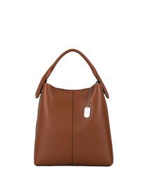 Callida II brown leather shoulder bag