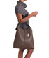 Callida II taupe leather shoulder bag Sale - anna morellini Sale