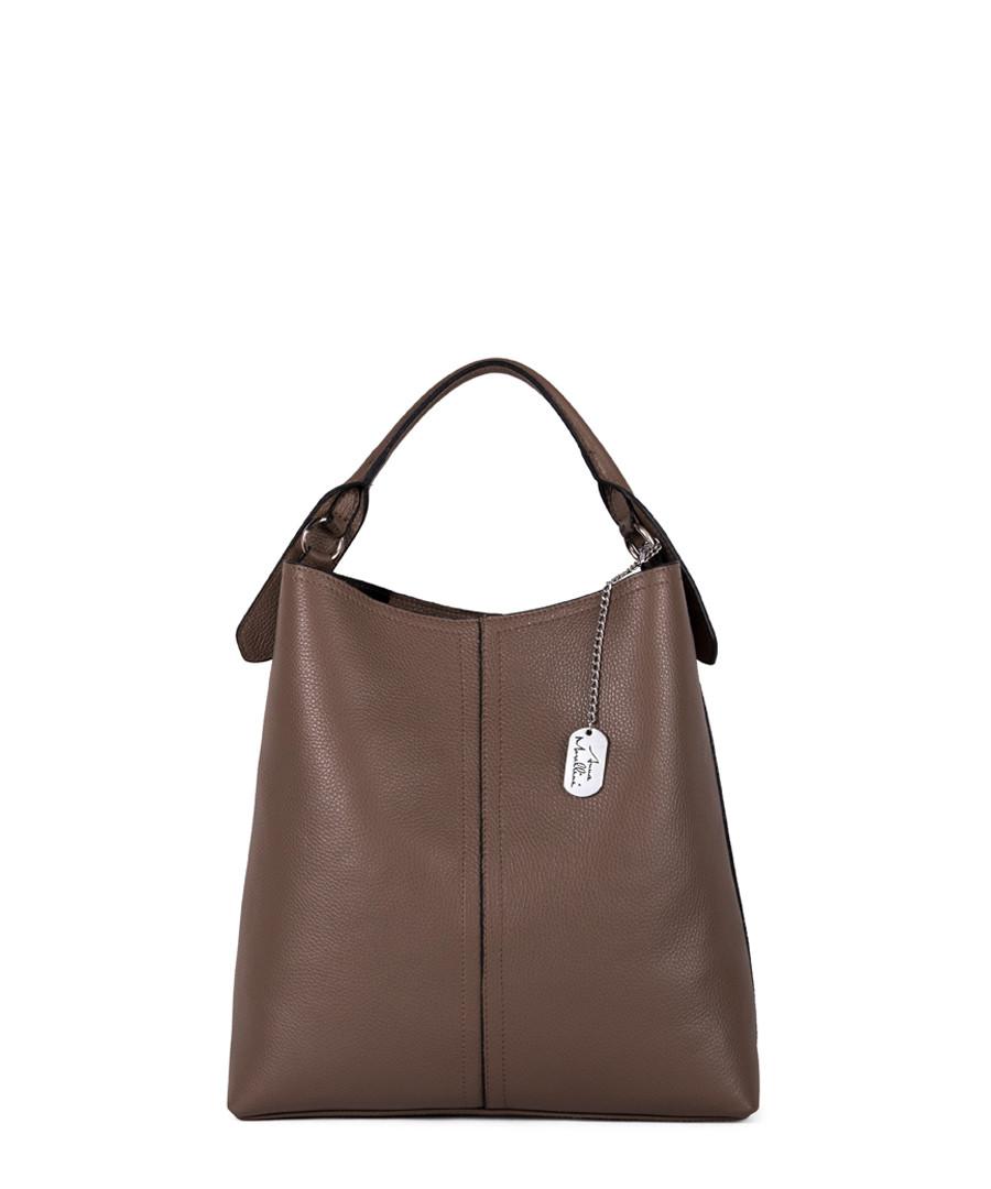 Callida II taupe leather shoulder bag Sale - anna morellini