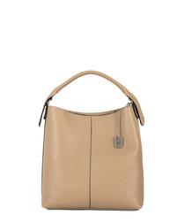 Callida II beige leather shoulder bag