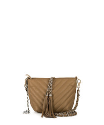Kira brown leather crossbody bag