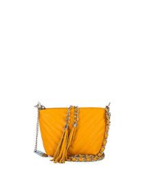 Kira amber leather crossbody bag