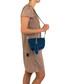 Kira blue leather crossbody bag Sale - anna morellini Sale