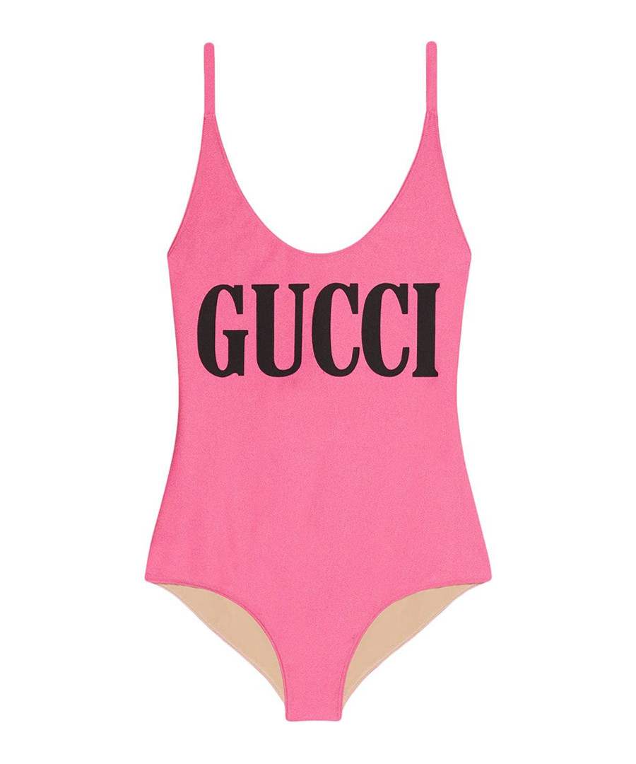 Pink logo swimsuit Sale - gucci