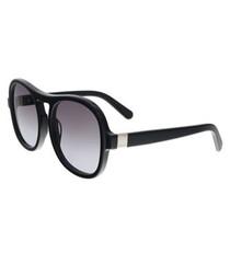 black & grey top-bar sunglasses