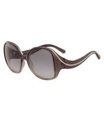 Brown & grey curved arm sunglasses
