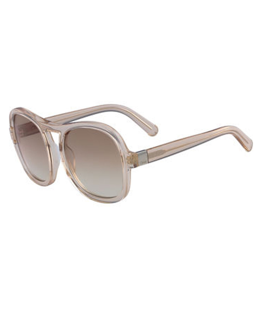 eaaf4208 Discount clear beige top-bar sunglasses | SECRETSALES