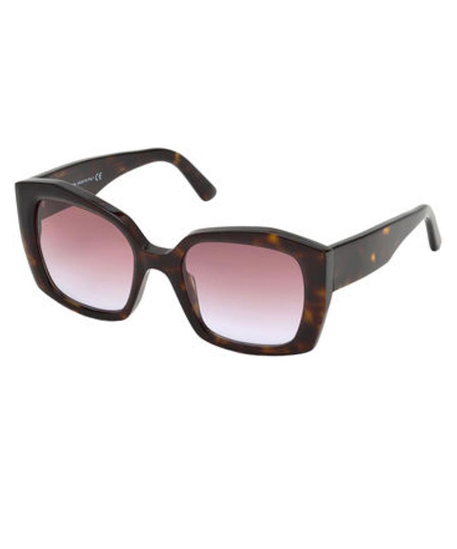 dark Havana & rose squared sunglasses Sale - balenciaga