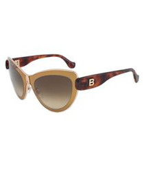 beige & Havana angular sunglasses