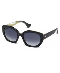 black & blue rounded sunglasses
