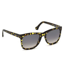 yellow Havana D-frame sunglasses