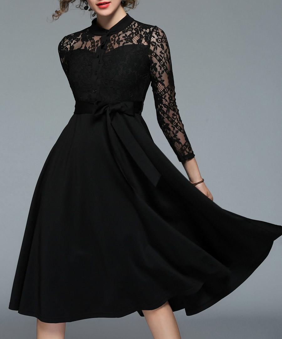 black button detail dress Sale - yisq