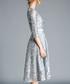 grey sheer sleeve dress Sale - yisq Sale