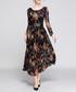 black floral spray midi dress Sale - yisq Sale