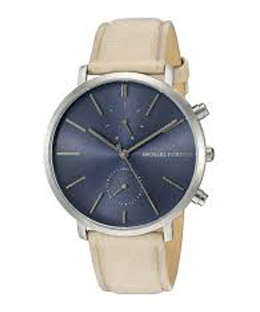 Jaryn silver-tone & leather strap watch Sale - Michael Kors