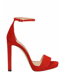 Misty 100 red heeled sandals
