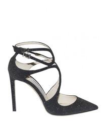 Lancer 100 black glitter heeled pumps