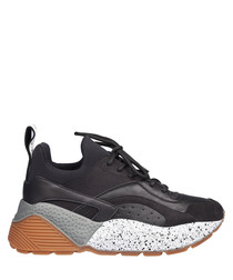 black panel sneakers