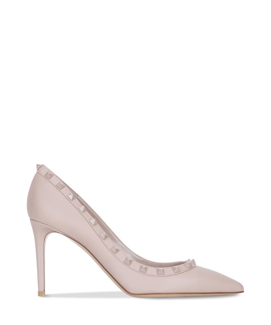 Pale pink leather rockstud heels Sale - valentino