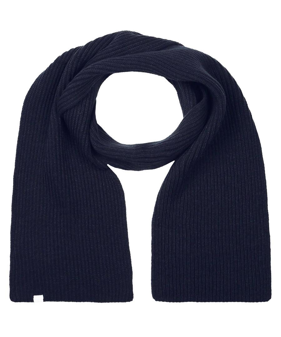 Navy ribbed scarf Sale - putney bridge