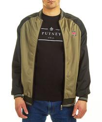 khaki crest bomber jacket