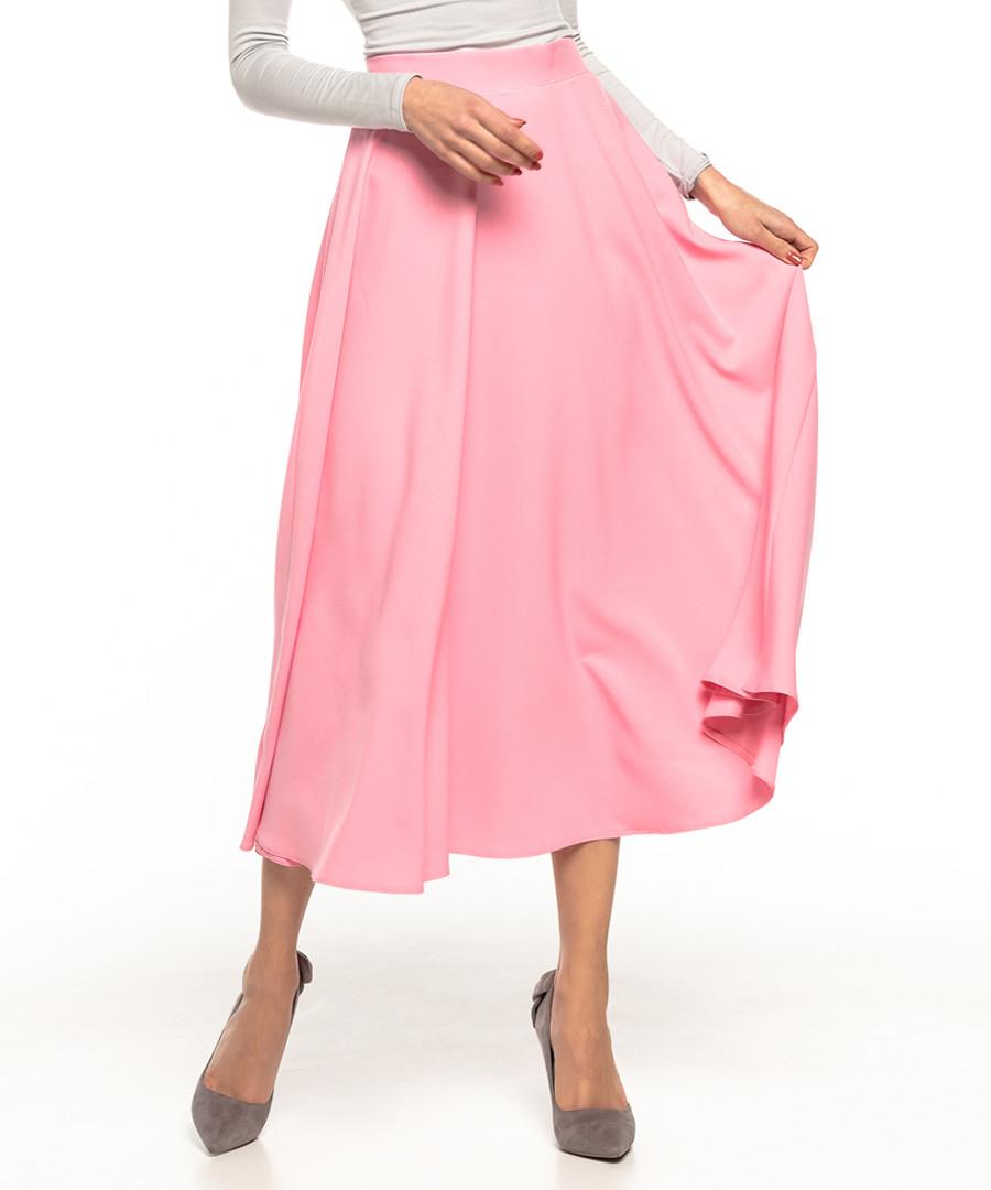 powder pink midi skirt Sale - tessita
