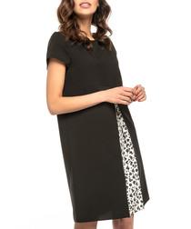 black split mini shirt dress